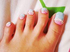 Mermaid toe nail designs