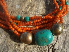 Idea {orange turquoise and metal}