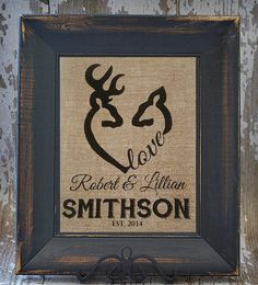 DEER LOVE Camp Personalized Burlap Monogrammed by Studio44Designs, $20.00