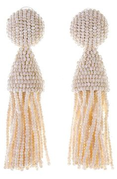 Main Image - Oscar de la Renta 'Classic Short' Tassel Drop Earrings
