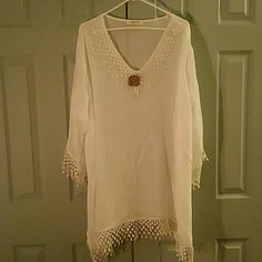 Beautiful Breezy Tunic This is a gorgeous tunic would be great with leggings or as a beach cover up. Indigo soul Tops Tunics