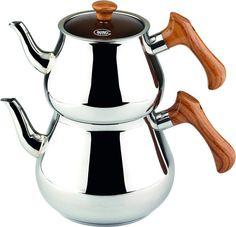 Pramit Ahşap Mega Çaydanlık (3,2 lt – 1,7 lt) - Güven Evim