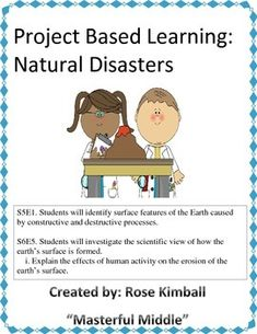 Step by step activity for a natural disaster project. Filled with a graphic organizer to show students how to record, build, and show their understanding.