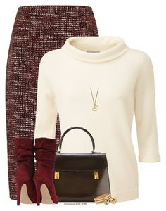 Wear it! In a Tweed Skirt by houston555-396 on Polyvore featuring polyvore, fashion, style, Pure Collection, Eastex, Hermès, Ross-Simons, Blue Nile, Gucci, clothing and WearIt