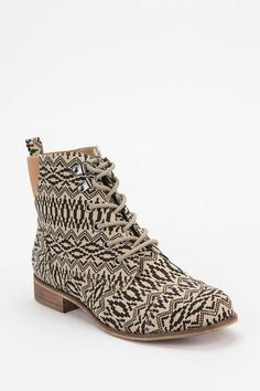 Printed Canvas Ankle Boot from urbanoutfitters.com