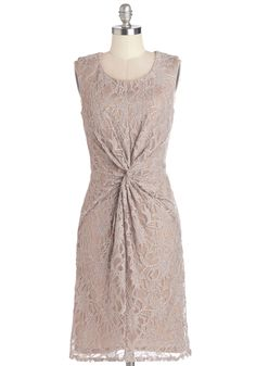 Simply Sparkling Dress. There's no other way to put it - you feel simply elegant flaunting this sparkling mocha dress. #tan #modcloth
