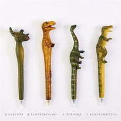 ダイナソーボールペン ペン 文房具 恐竜 オフィス ステーショナリー 怪獣 筆記具 アパトサウルス トリケラトプス ティラノサウルス ティラノサウルス T-REX ダイナソー ボールペン Tレックス