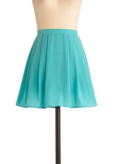 in love with this teal skirt. Oh, so in love!!