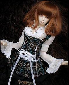 BJD / SD doll Wigs / wig accessories / baby hair / hot wire HT- fluffy brown shawl pear head-third of Peru