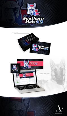 Southern Mals K9 Branding Logo Design, Business Card Design + Facebook Social Media Design Adorn Studio  adornstudio.com