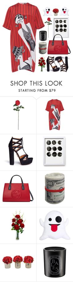 """""""07.06.17-3"""" by malenafashion27 ❤ liked on Polyvore featuring Nearly Natural, Holly Fulton, Aquazzura, Gucci, The French Bee and Diptyque"""