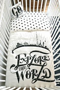 Jill's Explore The World Bedding Set - NEW sateen organic cotton