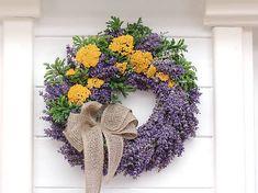 Clarah / Levanduľový veniec Vence, Grapevine Wreath, Grape Vines, Wreaths, Fall, Home Decor, Autumn, Door Wreaths, Room Decor