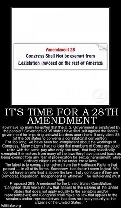 It's a good start. I can think of some other amendments too. But just having a convention is a tricky thing. There will always be traitors wanting to commit high treason like McCain Bill Of Rights, Trump Executive Orders, Political Views, Political Topics, Political Satire, Members Of Congress, Social Security, We The People, Free People