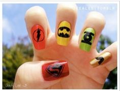 A Super Manicure!! goes with the super cupcakes. party time feels imminent!