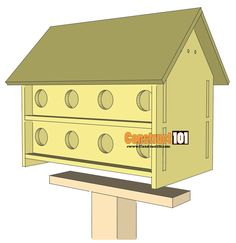 pressure treated ground socket for purple martin bird house swivel