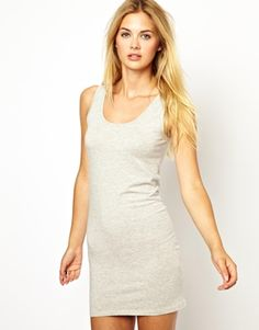 Vila Bodycon Dress With Scoop Neck