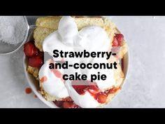 Strawberry-and-cream cake pie | Woolworths TASTE Magazine - YouTube