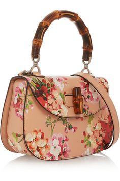 Gucci | Bamboo Classic printed textured-leather shoulder bag | NET-A-PORTER.COM