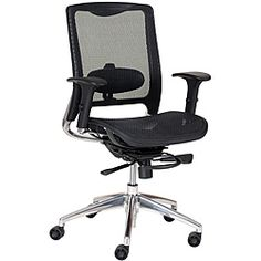 @Overstock - The innovative design of this modern mesh seat office chair combined with the trusted AirMesh fabric technology makes this chair the perfect addition to any office. Sleek and comfortable, this elegant chair adjusts in 12 different ways.http://www.overstock.com/Office-Supplies/ECO8.8-Mesh-Back-and-Seat-Office-Chair/5916369/product.html?CID=214117 $414.99