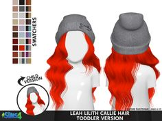 Leah Lillith Callie Hair Toddler von coupurelectrique Die Sims 4 Sim herunterladen - The Sims 4 - Sims 4 Toddler Clothes, Sims 4 Mods Clothes, Sims 4 Cc Kids Clothing, Toddler Cc Sims 4, Children Clothing, Toddler Girls, Los Sims 4 Mods, Sims 4 Game Mods, The Sims 4 Bebes