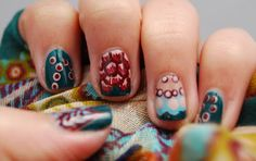Green Patterns #freehandnails #nailart #nailpolish #greennails #autumnnails #australias #avon #barrym #rimmel #aussienails #justnailin Rimmel, Green Nails, Green Pattern, Avon, Nailart, Nail Polish, Beauty, Cosmetology, Green Nail
