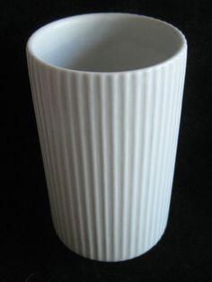 Vtg 60's Kaj Franck Arabia Finland Mid Century Modern White Cylinder Vase Eames | eBay Cylinder Vase, Eames, Finland, Mid-century Modern, Mid Century, Pottery, Ebay, Art, Ceramica