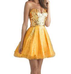 Popbop Sexy Frauen Trägerloses Schatz Sleeveless Abend Prinzessin Kleid: Amazon.de: Bekleidung