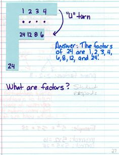 Interactive Math Notebook-Factors and Multiples   # Pin++ for Pinterest #