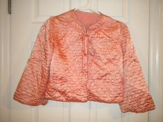 X Vintage Pink Quilted Satin Bed Jacket (FF169) by FrenchFolly on Etsy https://www.etsy.com/listing/85149781/x-vintage-pink-quilted-satin-bed-jacket