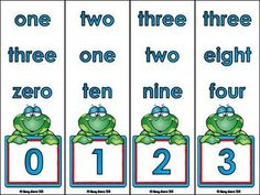 Freebie 22 Number/Number Word Matching Clip Cards