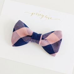 Jersey Love Navy and Blush Pink Buffalo Plaid by shopjerseylove