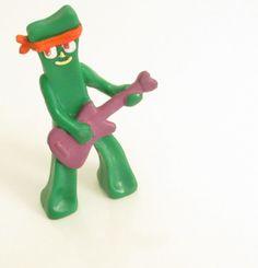 Vintage 1980s Mini Rocker Gumby Action Figure by SandyLeesAttic, $4.95