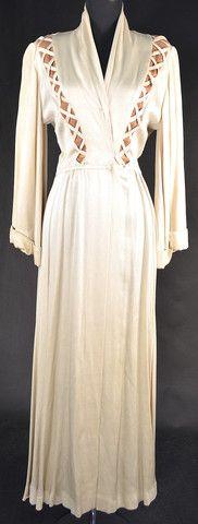 "Barbara Stanwyck ""Thelma Jordan"" robe designed by Edith Head from ""The File on Thelma Jordan"""