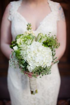 Cabbage Bouquet !!! Read more - http://www.stylemepretty.com/2012/04/11/portland-wedding-at-the-treasury-ballroom-by-sarah-layne-photography/