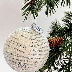 Book Paper Ornament  Harry Potter Paper Ornament