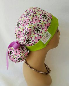 Check out this item in my Etsy shop https://www.etsy.com/listing/468039541/ponytail-scrub-hat-with-ribbon-scrub-hat