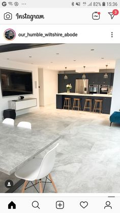 Open Plan Kitchen Living Room, Kitchen Family Rooms, New Kitchen, Kitchen Ideas, Kitchen Decor, Conservatory Extension, Kitchen Diner Extension, House Projects, Tile Design