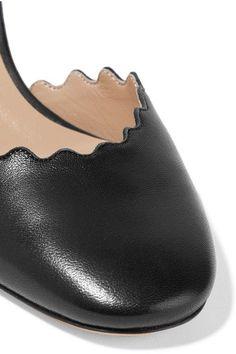 Chloé - Lauren Scalloped Leather Pumps - Black