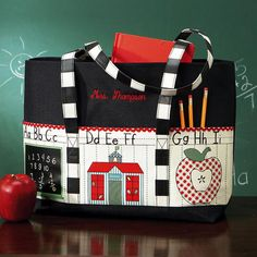 Personalized Teacher Tote Bag From Lillian Vernon Canvas Teaching Shirts Bags
