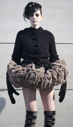 Thigh gap? Who gives a crap when you're wearing a three hundred pound knitted tutu.  My apologies to Knit Dreams from MitiMota