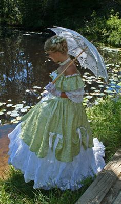 "Nothing says ""Southern Belle"" like a hoopskirt and a parasol."