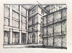 Capriccio Urbano.  #landscape #ubanlandscape #drawing #architecture