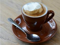 Life-changing discovery: Espresso Con Panna (espresso with whipped cream). I can die happy now...