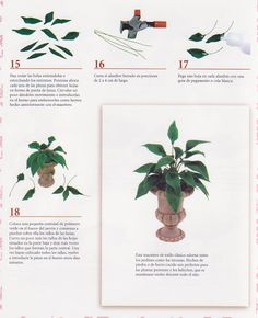 TUTORIAL PLANTAS - Marisol Perez - Picasa Web Albums Dollhouse Tutorials, Diy Dollhouse, Dollhouse Miniatures, Miniature Tutorials, Diy Barbie Furniture, Garden Furniture, Miniature Plants, Miniature Houses, Paper Plants
