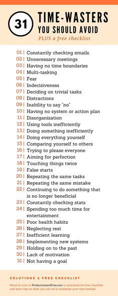 31 Time-Waster You Should Avoid and What To Do Instead + Free Checklist | Productive and Free