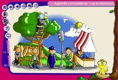 Juego interactivo - las profesiones.  En español.