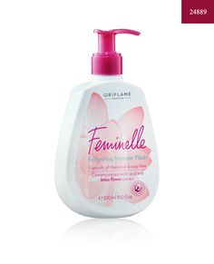 Oriflame Feminelle Refreshing Intimate Wash Rose Water (Soap Free), New Oriflame Beauty Products, Intimate Wash, Feminine Hygiene, Natural Cosmetics, Rose Water, Natural Skin Care, Body Care, Bath And Body, Fragrance