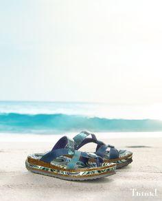 Zum Urlaubsstart so richtig gemütlich:  luftige Sandalen wie der ZEGA. Think, Pumps, Shoes Women, Lady, Fashion, Ladies Shoes, Sandals, Women's Slingback Shoes, Woman Shoes