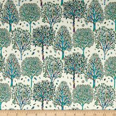 Liberty of London Dufour Jersey Knit The Artists Tree Ivory - Discount Designer Fabric -  Fabric.com